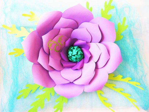 Diy giant paper flower templates large paper flowers paper etsy image 0 mightylinksfo