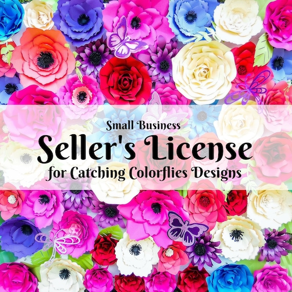 Multiple Use Seller S License Commercial Use Giant Paper Flower