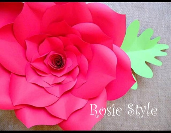 paper rose svg cut files diy giant paper rose diy paper