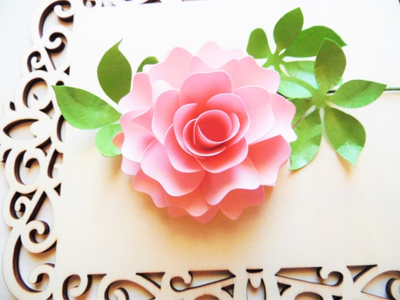 Diy paper flowers paper rose template paper flower bouquet paper il570xn mightylinksfo