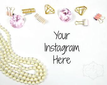 Pearl and Diamond Styled Photography, Desktop Styled Stock Photos, Product Styled Stock Photos, Instagram Styled Photos