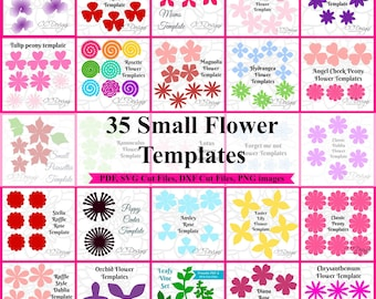 Small Paper Flowers, Paper Flower Wedding Bouquet, Flower Templates, SVG Cut Files, Paper Roses, Small Table Flowers, Black Friday Sale