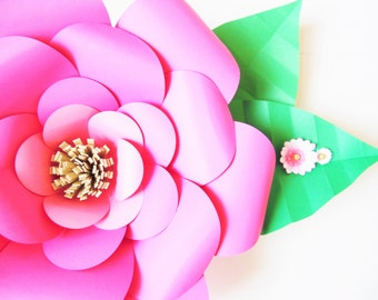 DIY paper flower templates,  Easy DIY Giant paper flowers- Paper Flower SVG,  Backdrop Paper Flowers, Cut files for silhouette and cricut