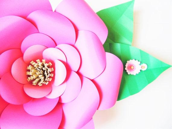 Diy paper flower templates easy diy giant paper flowers etsy image 0 mightylinksfo