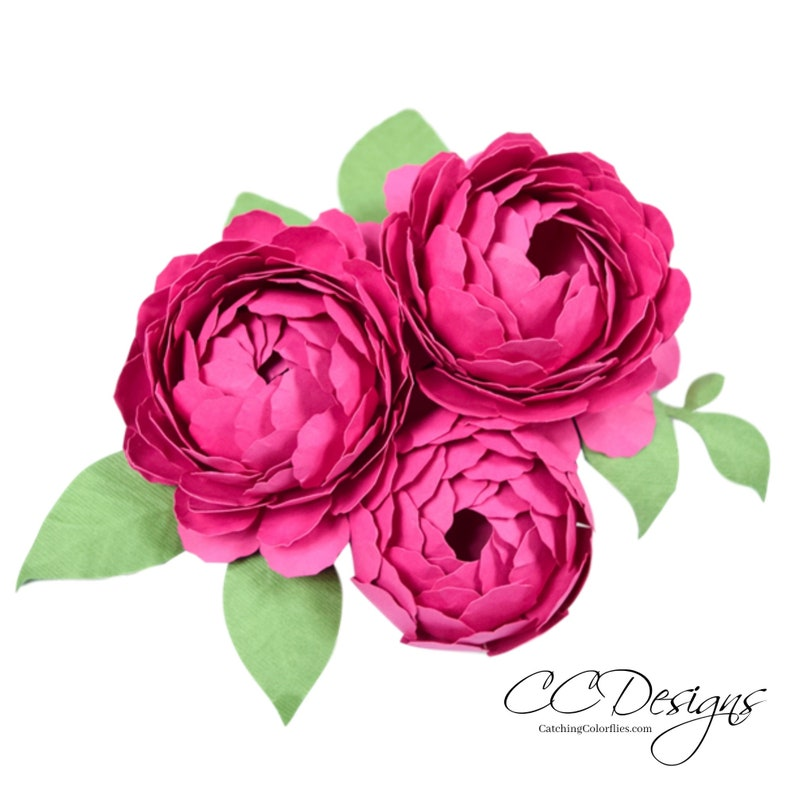 photo about Flowers Printable named Paper flower printable templates- Do it yourself Peony paper bouquets- PDF printable flower templates- Do-it-yourself paper bouquets- paper flower bouquet