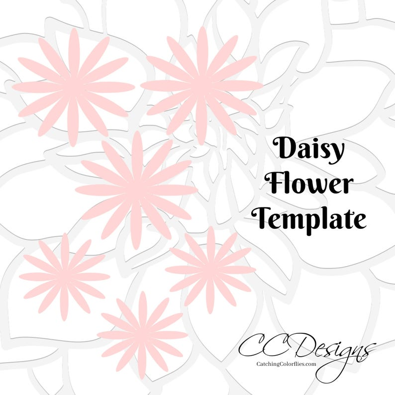 Paper Flowers Daisy Flower Templates Svg Flower Cut Files Etsy
