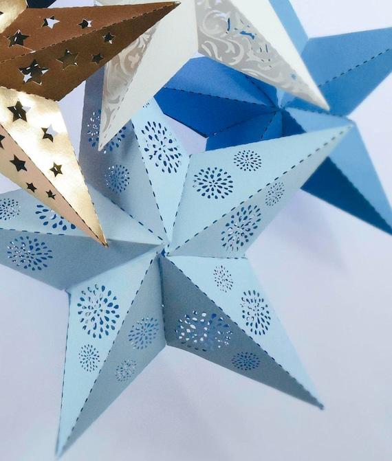 Paper Star Lantern Svg Cut Files Diy 3d Paper Stars Paper Decor