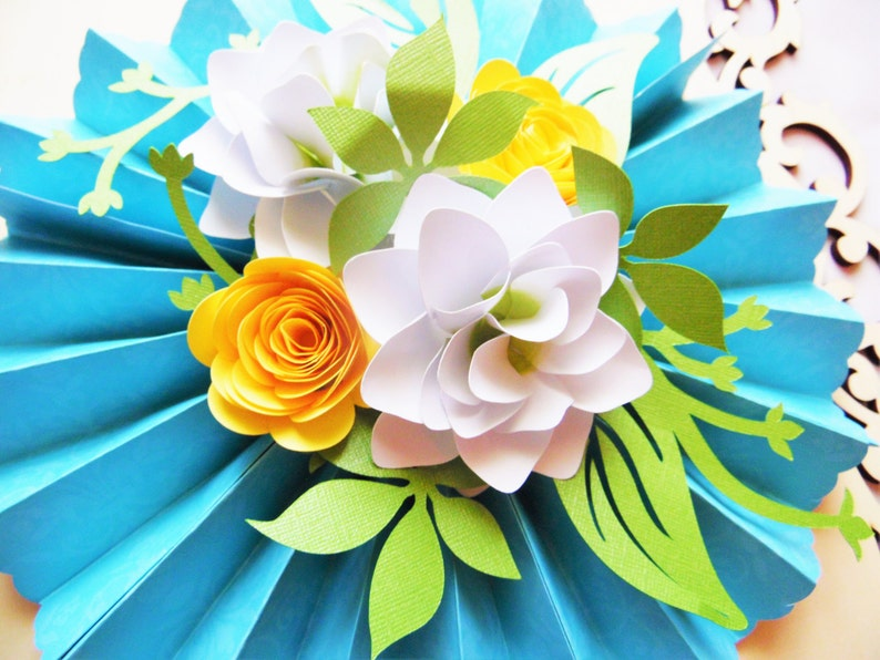 Hanging Rosette Medallions Svg Paper Flower Cut Files Small Paper Flower Templates Wedding Decor Baby Shower Decor Bridal Shower Decor