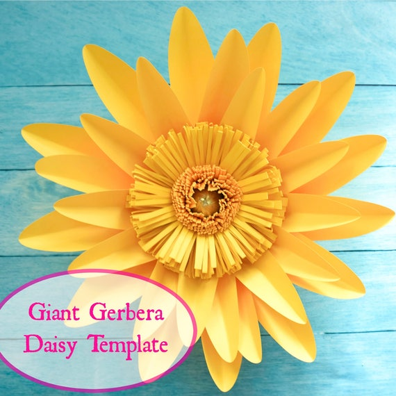 picture relating to Daisy Templates Printable named Big Gerbera Daisy Paper Flower Template and Guide