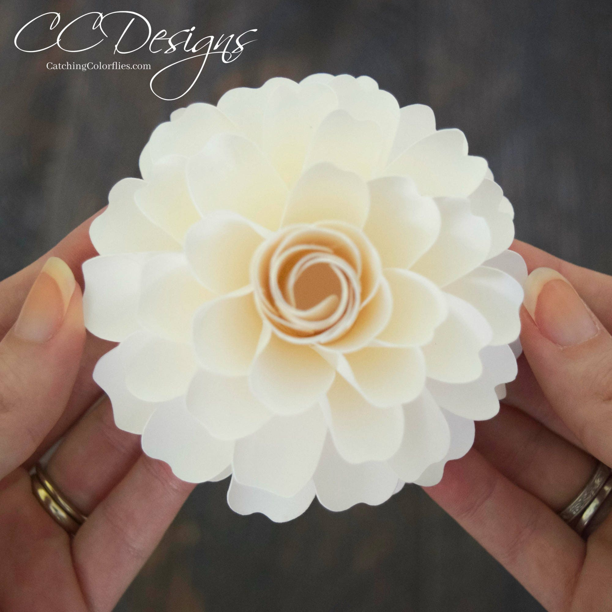 Paper flower templates diy paper flower dahlia pdf flower patterns this is a digital file mightylinksfo