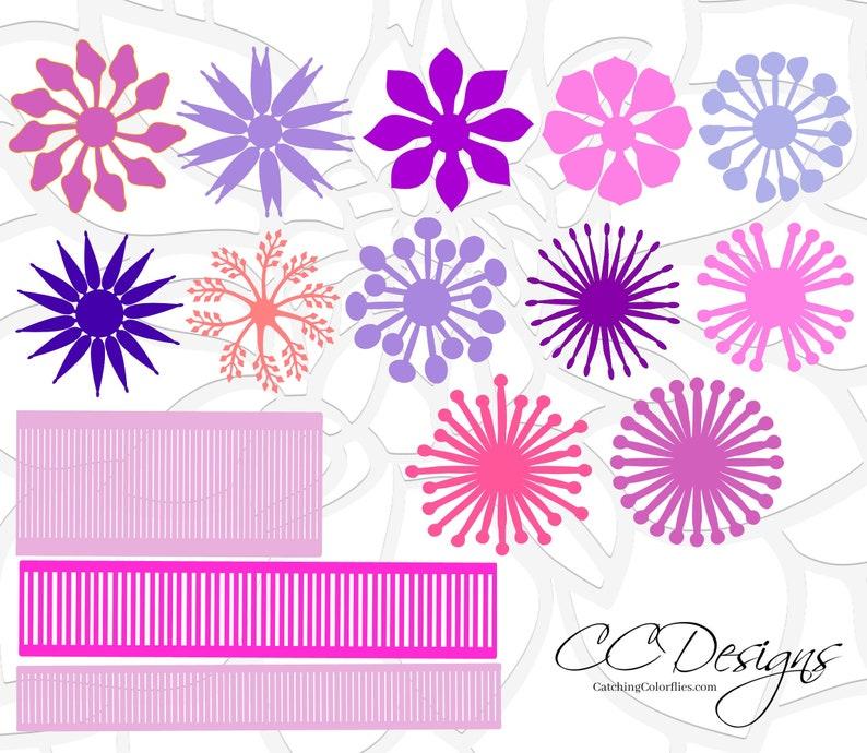 Center Templates For Paper Flowers Flower Center Svg Etsy