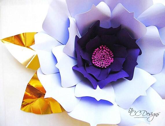Large Printable Paper Flower Templates PDF Flower Patterns Etsy