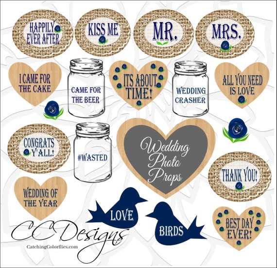 image relating to Free Printable Wedding Photo Booth Props known as Rustic Burlap Wedding ceremony Image Props, Printable Marriage ceremony Photograph