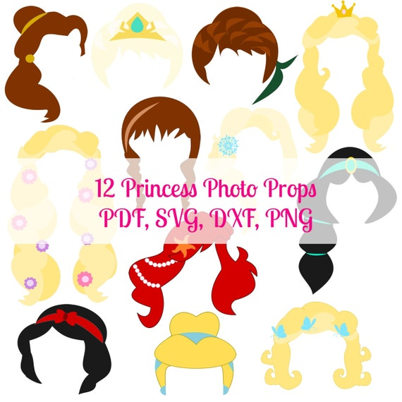 photograph relating to Printable Princess named Princess Celebration Photograph Booth Props- Printable Princess Hair