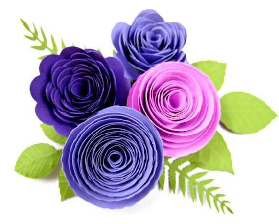 Paper Flower Rolled Rosettes Diy Paper Roses Rosette Flower Svg