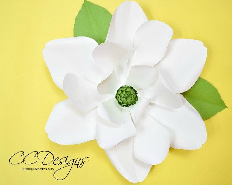 Large Paper Magnolia Flowers Giant Paper Magnolia Templates Etsy