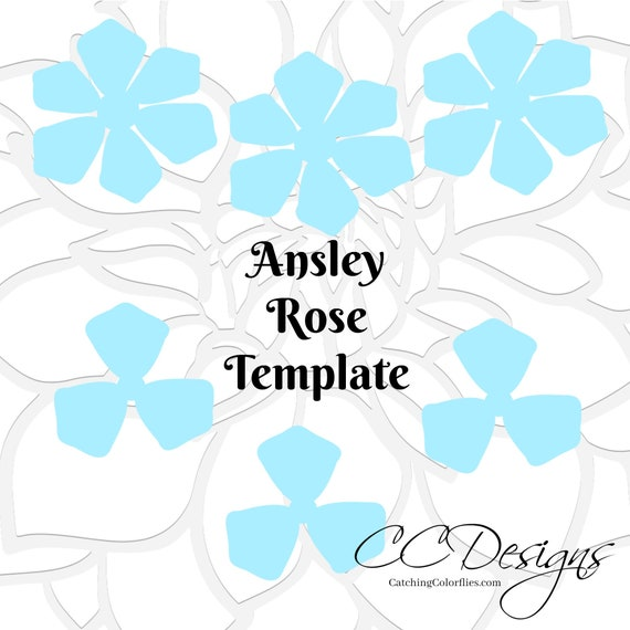 Printable Rose Flower Templates Diy Paper Flowers How To Make