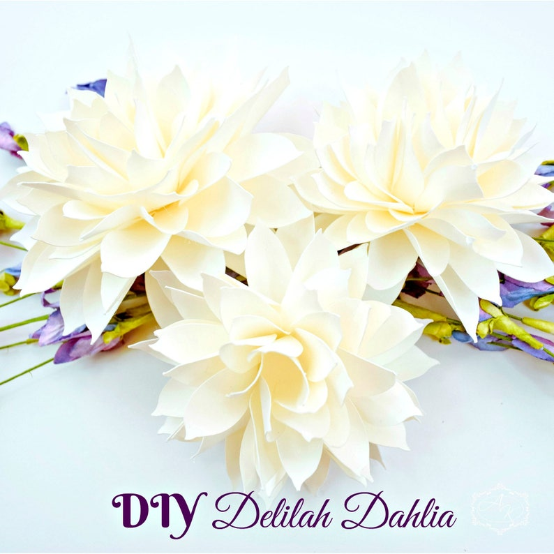 Diy Paper Dahlia Templates Flower Printable Templates