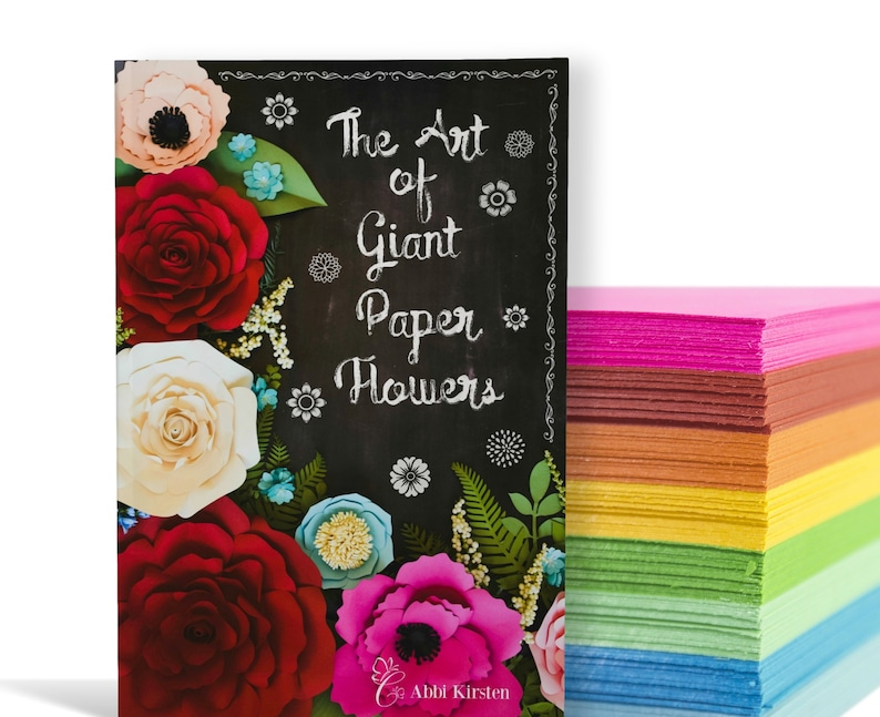 Large Paper Flowers and Giant Paper Rose Templates with image 0