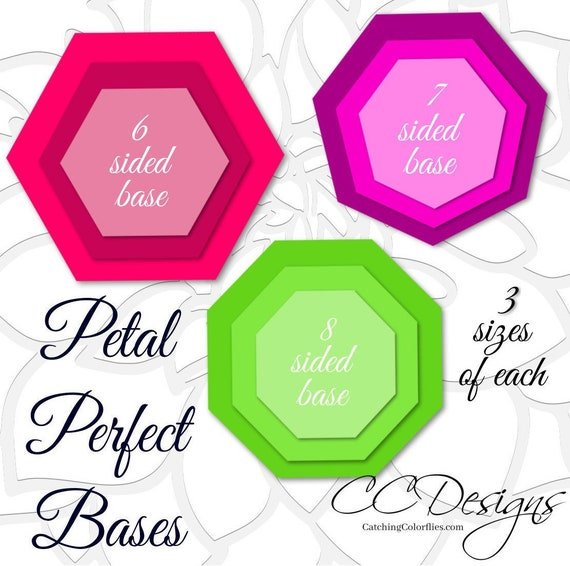 Bases For Large Paper Flowers Base Template For Giant Paper Etsy