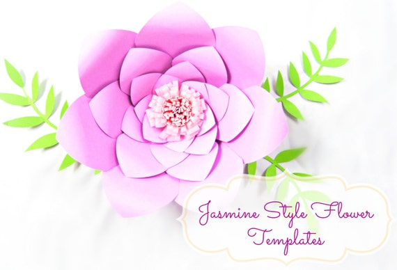 DIY Giant Paper Flower Templates SVG Cut Files DIY Paper Flowers