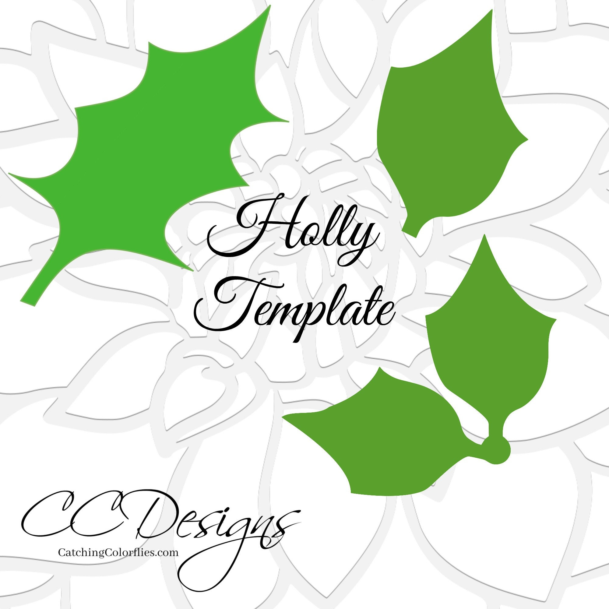 Holly Template Topsimages