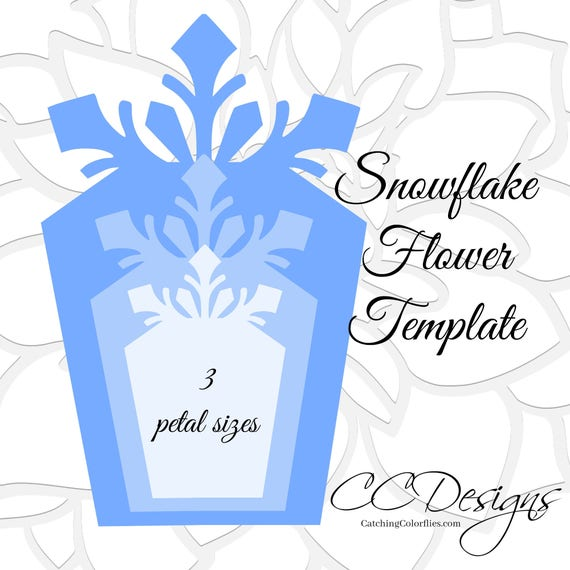Large Paper Snowflakes Template DIY Giant Flowers