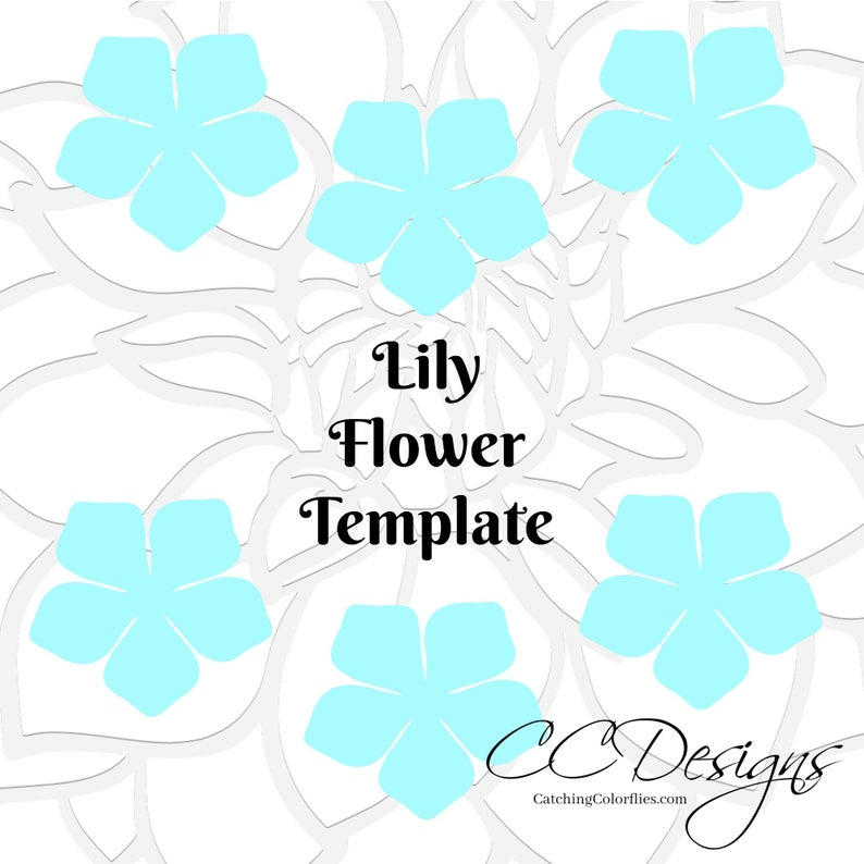 Paper Lily Template