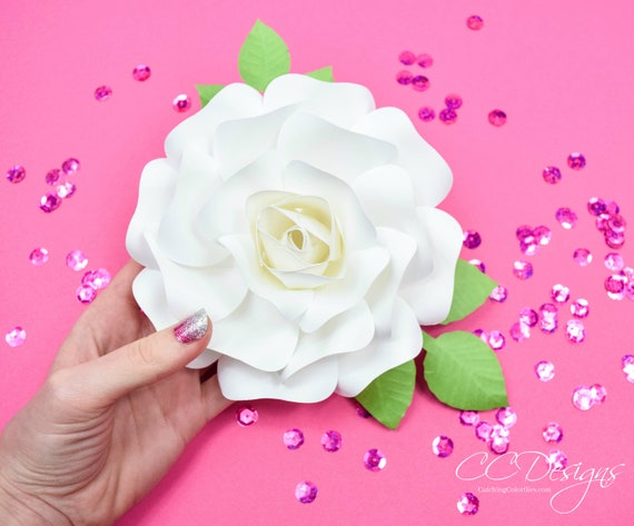 Diy instant download paper rose flower templates small paper etsy image 0 mightylinksfo