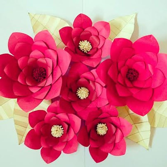 Paper Wall Art Paper Flowers Giant Paper Flower Wall Art Nursery
