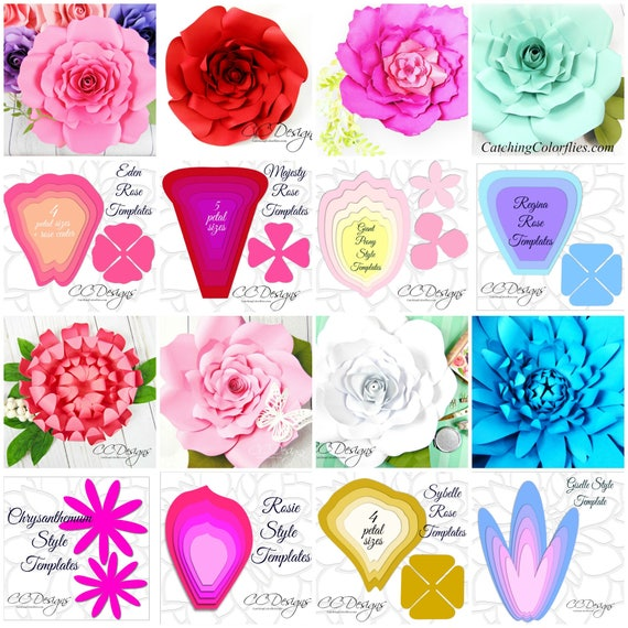 Giant Paper Flower Template Set Of 50 Large Paper Flower Templates