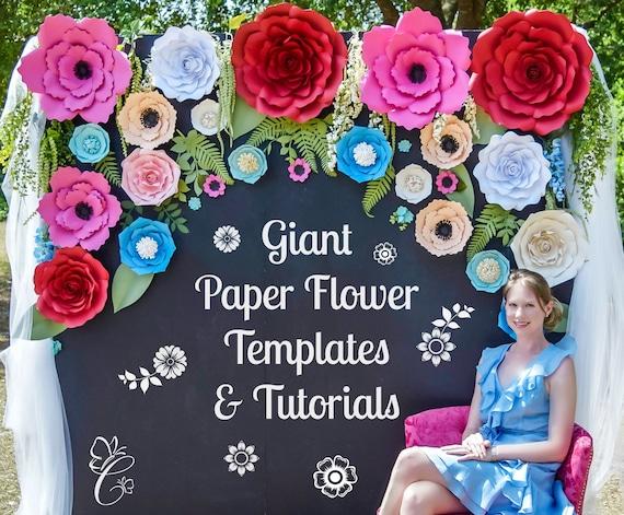 Large Paper Flowers Paper Flower Kit Tutorials Flower Templates