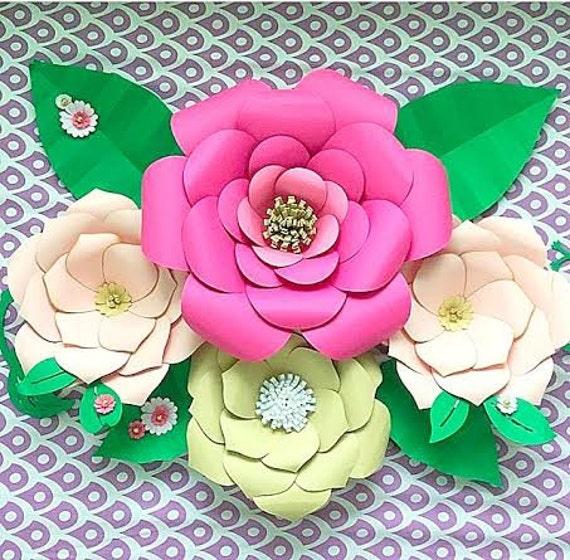 Diy Large Paper Flower Templates Paper Flower Kit Paper Flower Svg