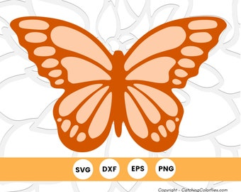 Monarch Butterfly SVG Cut File, SVG Files for Cricut, Butterfly Silhouette, Instant Download