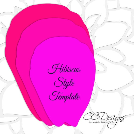 hibiscus paper flower templates giant paper flower templates etsy