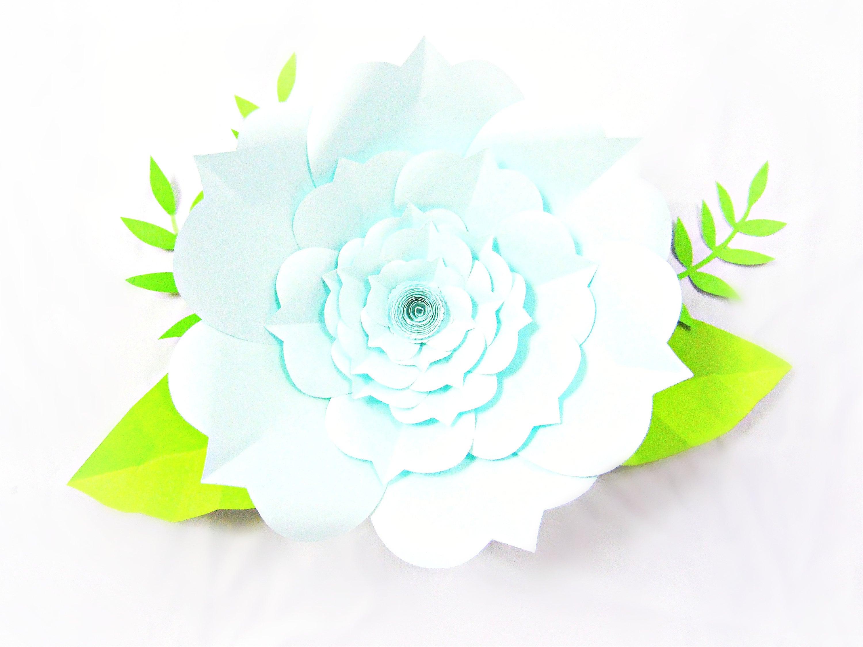 Large Paper Flower Svg Cutting Templates Svg Files Svg Etsy