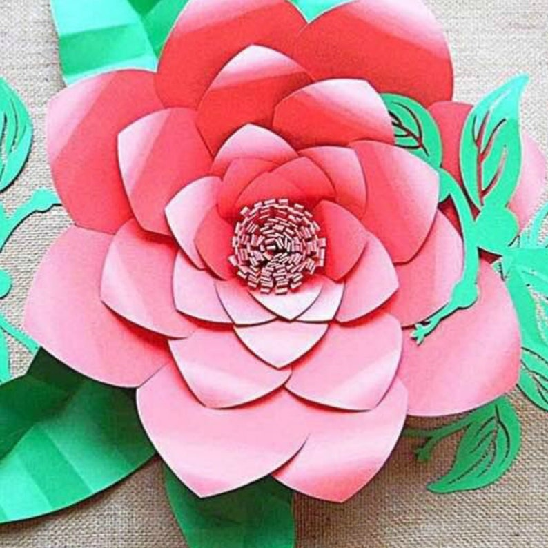 Large Flower Svg Files Giant Diy Paper Flowers Floral Svg Cutting Files Large Backdrop Flowers Paper Flowers