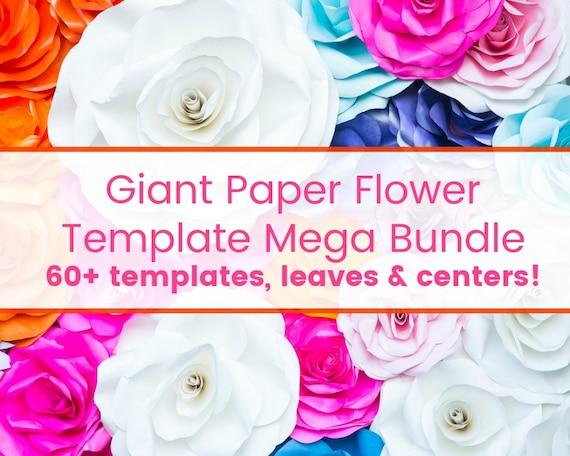 Wedding Paper Flower Backdrop Paper Flower Wall Flower Templates
