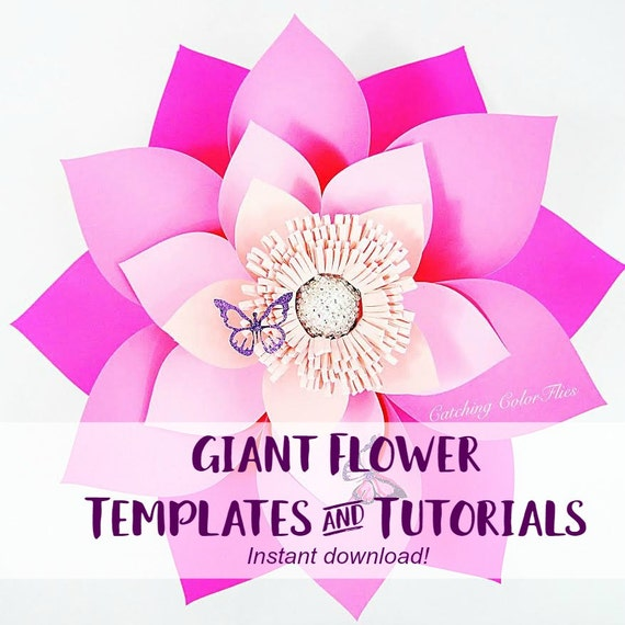 Large Paper Flowers Backdrop Giant Paper Flowers Template For A