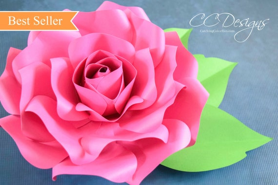 Paper roses paper flower svg giant paper roses large paper etsy image 0 mightylinksfo