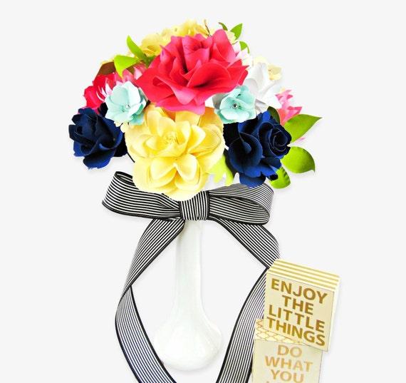 Paper Wedding Bouquet Diy Paper Flower Templates Rose Paper Flower