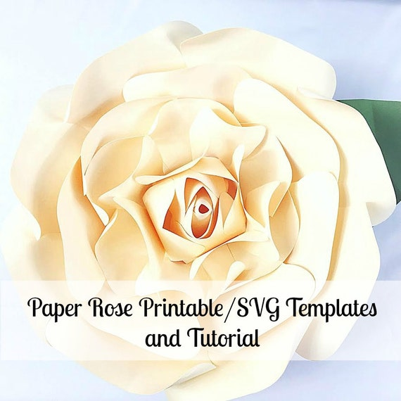 Large Paper Flowers Giant Paper Flowers Printable Rose Template