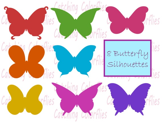 butterfly silhouette clipart clip art instant download butterfly rh etsystudio com