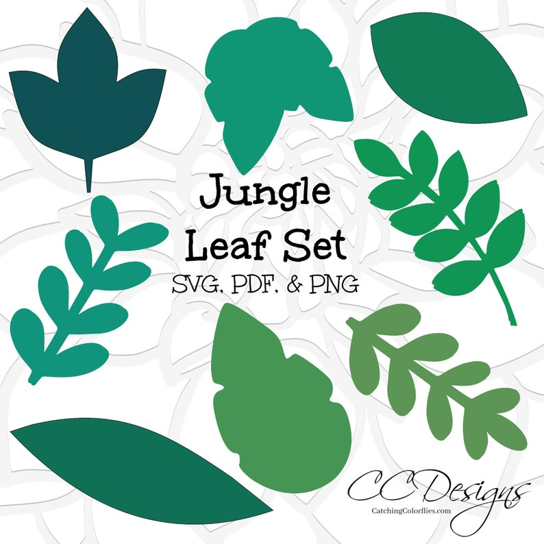 Jungle Safari Leaf Templates Printable Jungle Leaf Templates Etsy