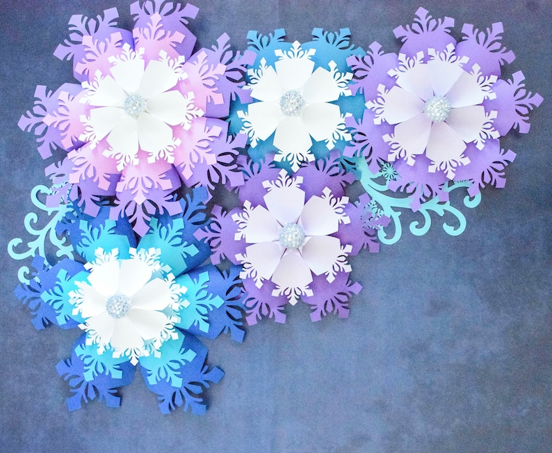 Giant Paper Snowflake Template and Tutorial, PDF Christmas Snowflake  Template, Snowflake Silhouette and Cricut Cut Files