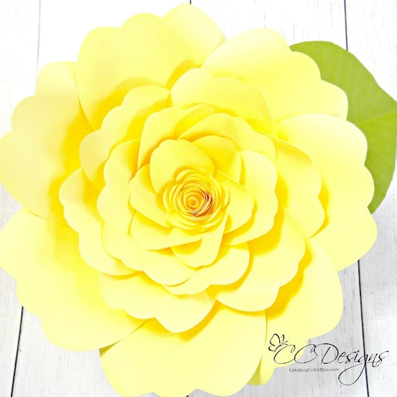 Giant paper flower tutorial with templates diy paper flowers etsy image 0 mightylinksfo