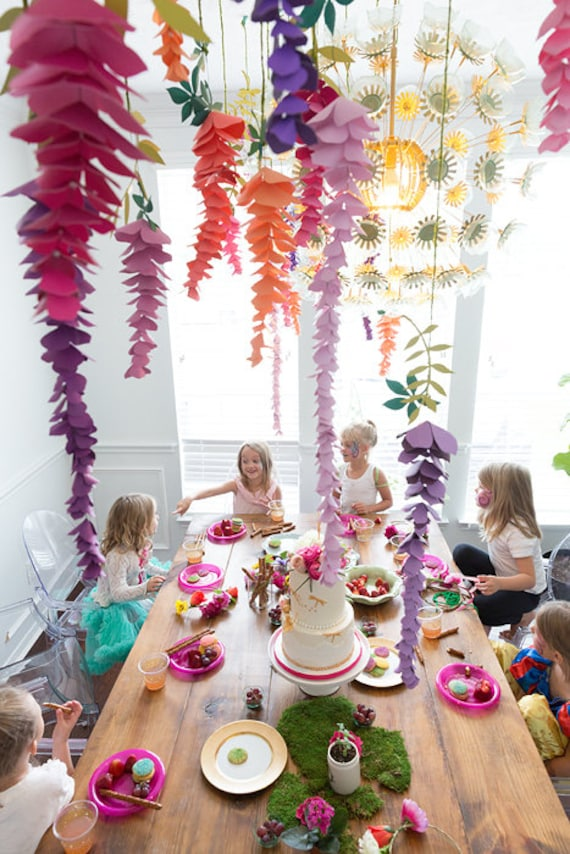 Paper Wisteria Flowers Hanging Wisteria Paper Decor Party Decor