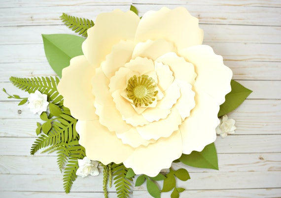 Giant paper flower template patterns and tutorials giant etsy image 0 mightylinksfo