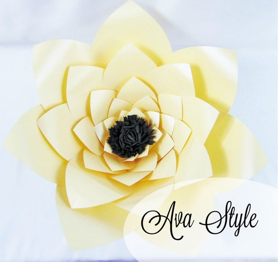 Printable giant flower templates diy large paper flowers diy etsy image 0 mightylinksfo