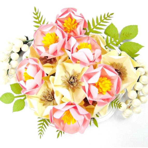Paper flower templates magnolia paper flowers paper flower etsy image 0 mightylinksfo